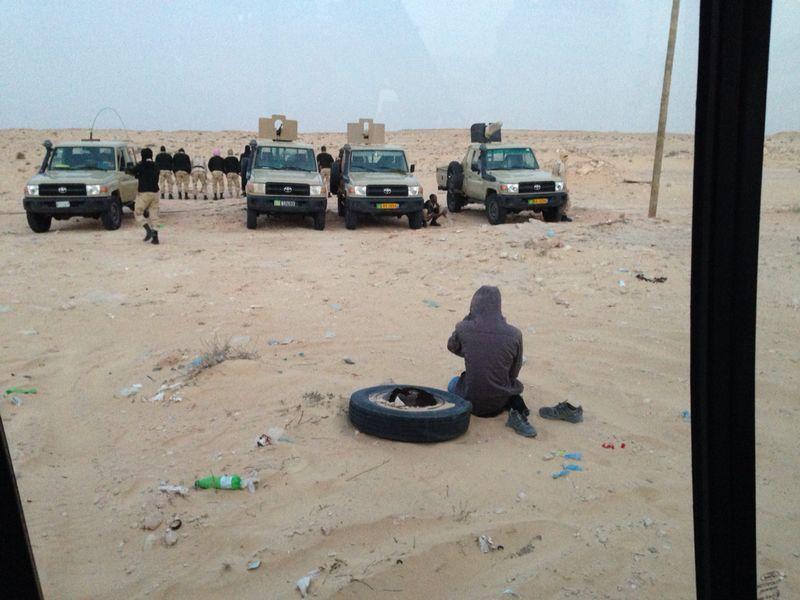 Grenze Mauretanien